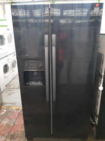 DAEWOO BLACK AMERICAN STYLE FRIDGE FREEZER WITH WATER ICE DIS for sale  Doncaster, South Yorkshire