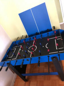 3 in 1  blue and black foos ball table