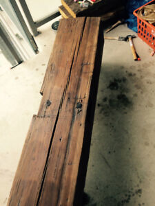 Reclaimed Barn Wood Beam Table or Bench (Gas Pipe Legs)