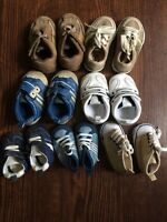 Collection of baby shoes
