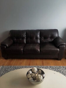 Espresso brown couch and chair set