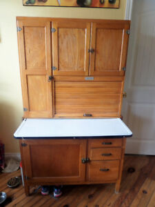 Antique Hoosier kitchen cabnet,large assorted of antiques