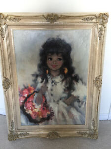 Vintage Original Oil Painting on Canvas - Circa 60s - $Reduced