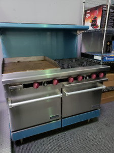 "NEW 48"" Commercial Range with 24"" Griddle and 2 Burners"