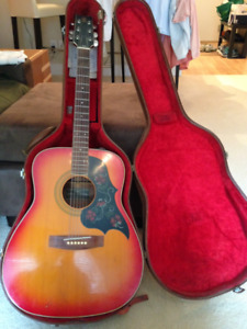 YAMAHA VINTAGE ACOUSTIC GUITAR (70'S)  FG295S Black Label