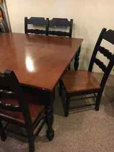 Solid wood kitchen table- seats 6 with bench