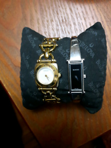 Gucci and Fossil watches used