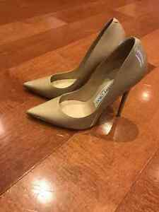 JIMMY CHOO ANOUK PUMPS IN NUDE (size 5)
