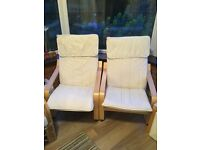 2 Chairs - IKEA Poang