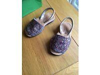 Girls genuine spanish sparkle shoes/sandals Size 28 (UK size 10)
