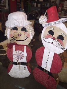 mr and mrs Claus  Christmas decoration Strathcona County Edmonton Area image 1