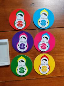 6 NEW Coasters Kusmi Tea