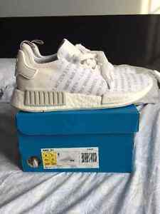 "adidas nmd ""white out"" sz 8"