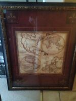 Old style world map