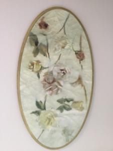 Cadre oval avec fleurs - Frame with flowers
