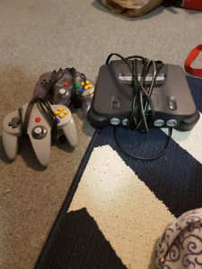 N64 Game console + 2 controllers