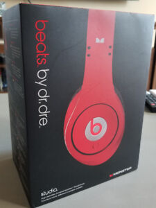 Beats by Dre. Red studio over the head headphones