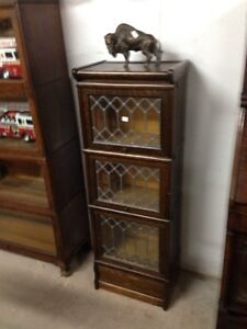 Antique Macey's Half Stacking Bookcases