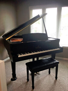 "Heintzman Grand Piano - 5'6"" Satin Ebony Finish"