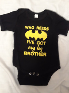 """""""BATMAN"""" Baby onesies for ages 12-18 months"""