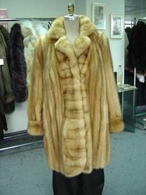 NEW CANADIAN GOLDEN SABLE FUR COAT WOMEN