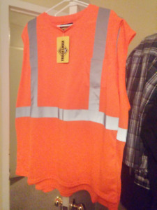 Brand New Safety Vest Muscle Shirts (1 XL & 1 XXL)