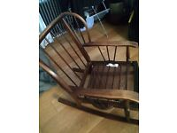 Ercol style/vintage rocking chair