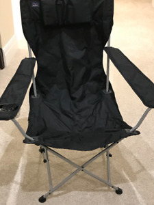Folding Beach Chair-Black