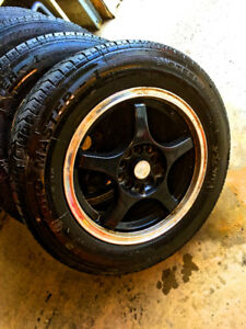 Set of FOUR Tires (on Rims) FS (15 inch) NO TRADES