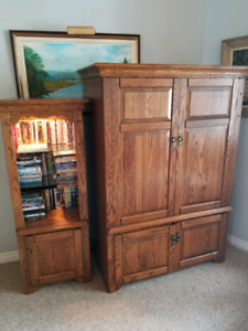 Tv wall unit and side piece
