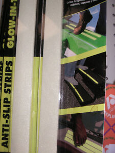 GLOW IN THE DARK!  Use this safety tread tape on ladders