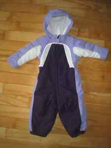 NEW girls Lands'end Size 2T One piece snowsuit