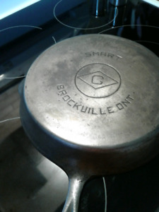 Completely stripped cast iron pan