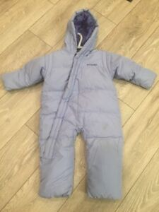 Columbia Feather/down filled snow suit (24mos)