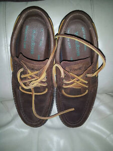 mens river boat shoes, leather