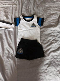 Newcastle United baby grow and outfit