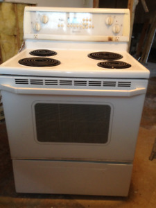 """30"""" White Whirlpool Electric Stove"""