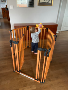 3 in 1 Baby Gate Superyard - Solid Wood