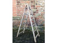 Imported from cognac vintage or antique French ladders. Retro rustic chic