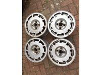 "VW P slots 14"" alloy wheels original genuine."