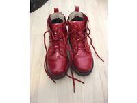 Girls size 30 lelli Kelly red boots