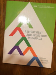 Recruitment and Selection in Canada, 6th Canadian edition
