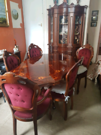 Italian cabinet and table set