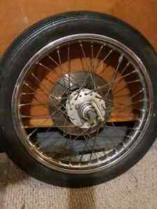 Wheel and forks for cb360