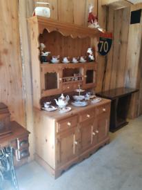 Solid Pine Country Kitchen Dresser