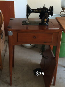 Singer Sewing Machine and Table