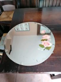 Original vintage round mirror