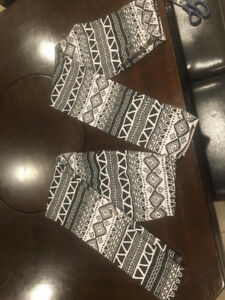 Two pair of identical New Mix fleece lined leggings - $10