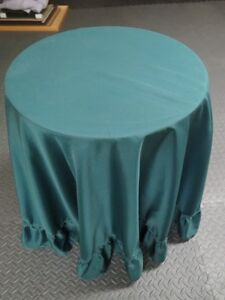 Table with green cover, perfect for displaying med/smalXmas Tree Kawartha Lakes Peterborough Area image 1