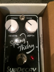 pédale reverb subdecay spring theory